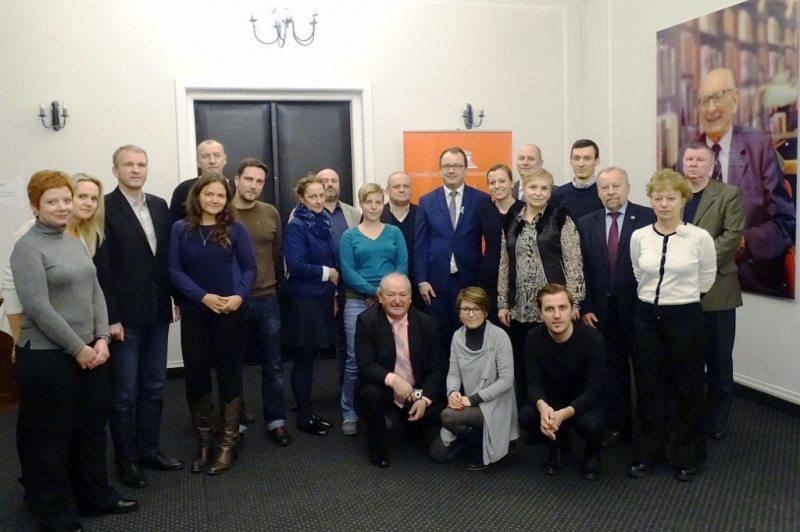 Belarusian human rights activists received in the office of the Commissioner for Civil Rights of Poland. November 25, 2016. Photo: rpo.gov.pl