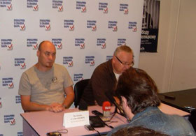 "Press-conference by the ""Human Rights Defenders for Free Elections"" campaign. August 27, 2012."