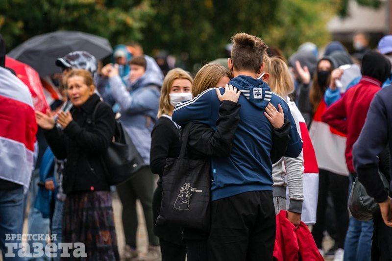 Акция протеста в Бресте 27 сентября. Фото – Олег Полищук