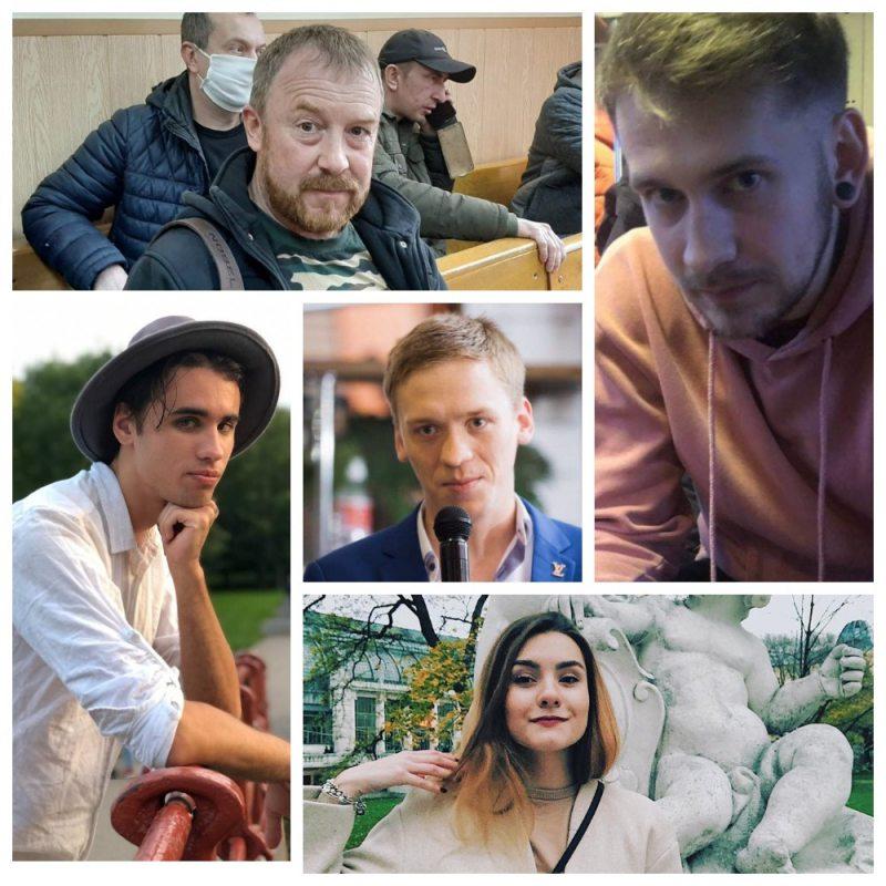 Пять россиян, сидящих по политическим статьям в белорусских СИЗО