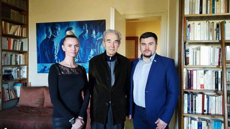 Яковицкая А., А.Палуда и экс-министр Франции
