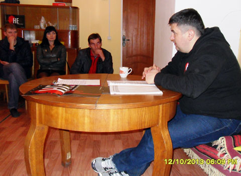 Discussion on the topic of the death penalty in Rechytsa, October 12
