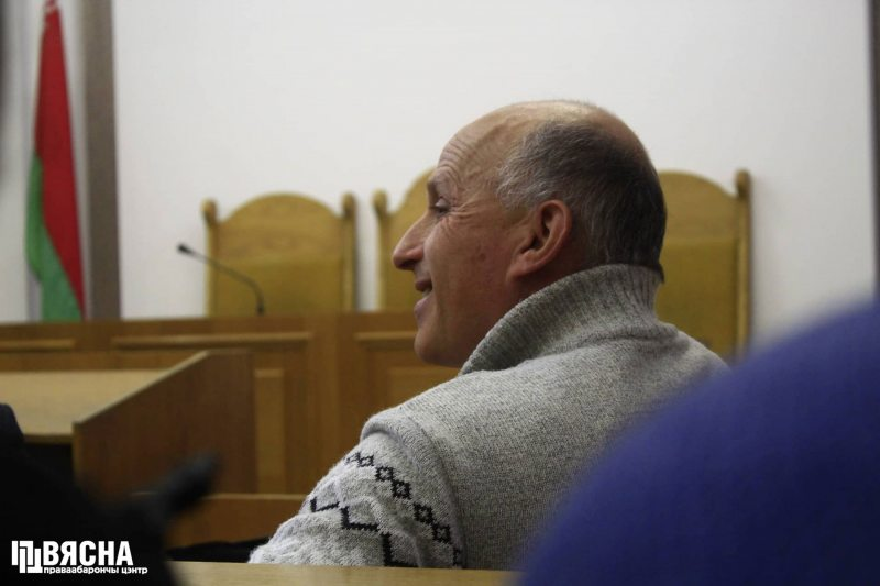 REP activist Ihar Komlik during an appeal hearing at the Minsk City Court. November 9, 2018