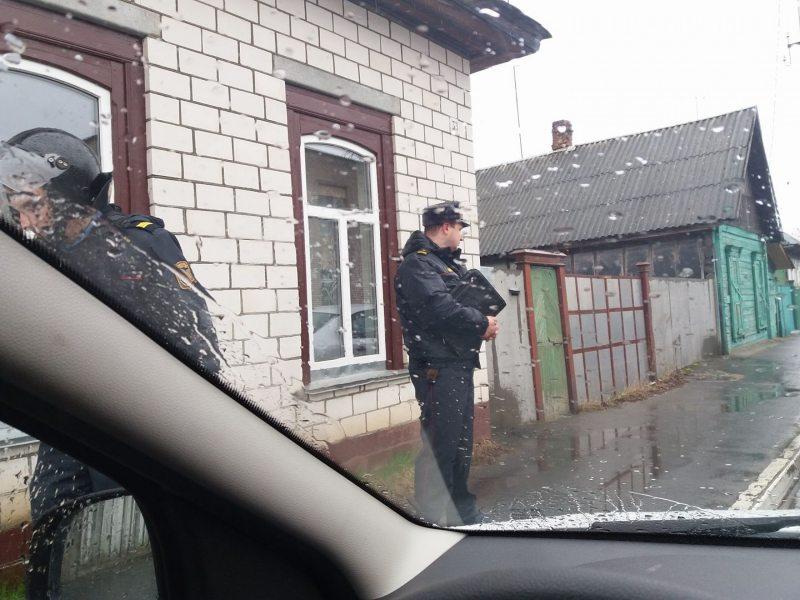 Затрыманне Ларысы Шчыраковай у Рэчыцы 18 сакавіка 2017 года.