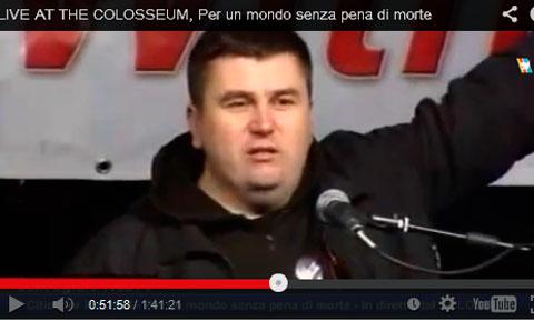 Андрей Полуда выступает в Риме.