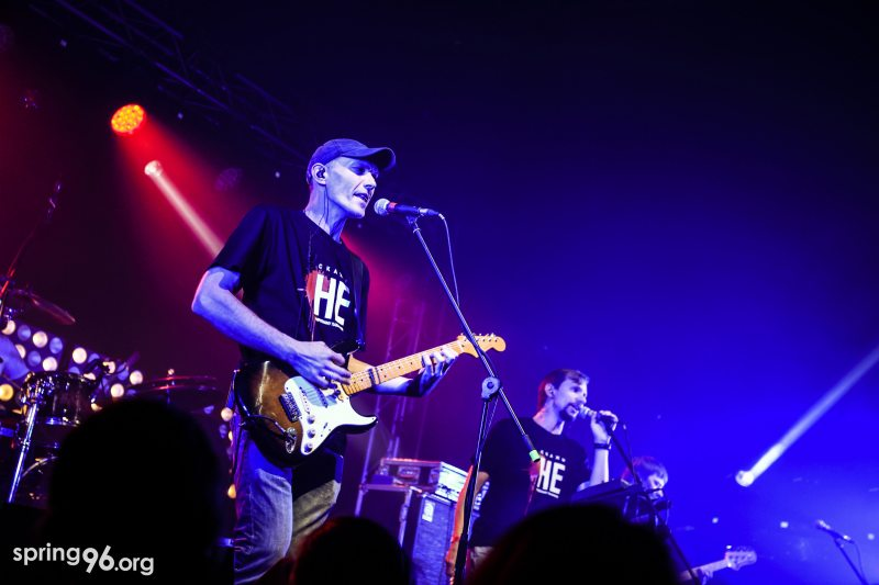 Rock band RSP wearing anti-death penalty T-shirts on stage of the Rock for Life concert in Minsk. October 5, 2019