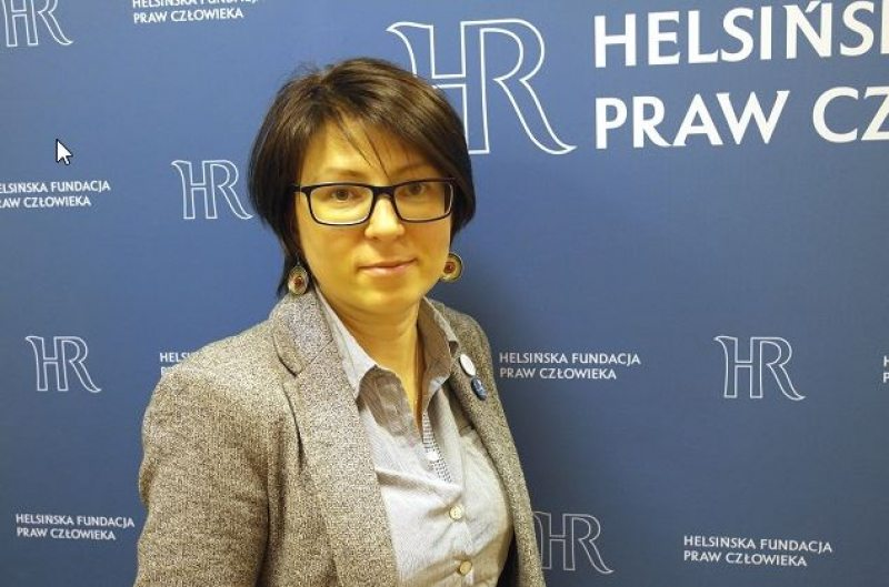 Вольга Саламатава, праўстаўніца Хельсінскага фонду правоў чалавека. Фота: Польскае Радыё