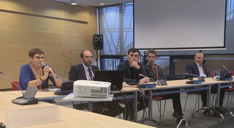 Павел Сапелко на сайд-ивенте (крайний справа). Фото: @AdamHug (twitter).