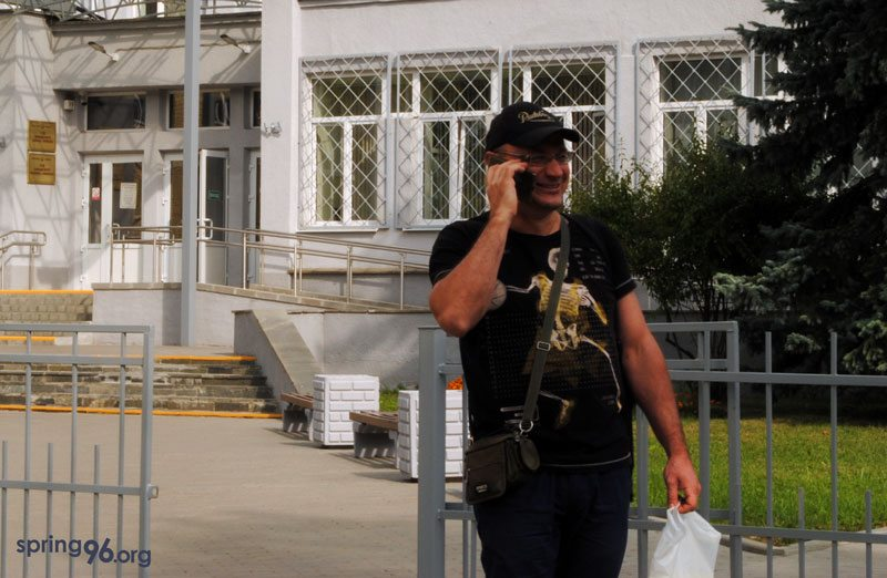 Dzmitry Serada. Photo: spring96.org