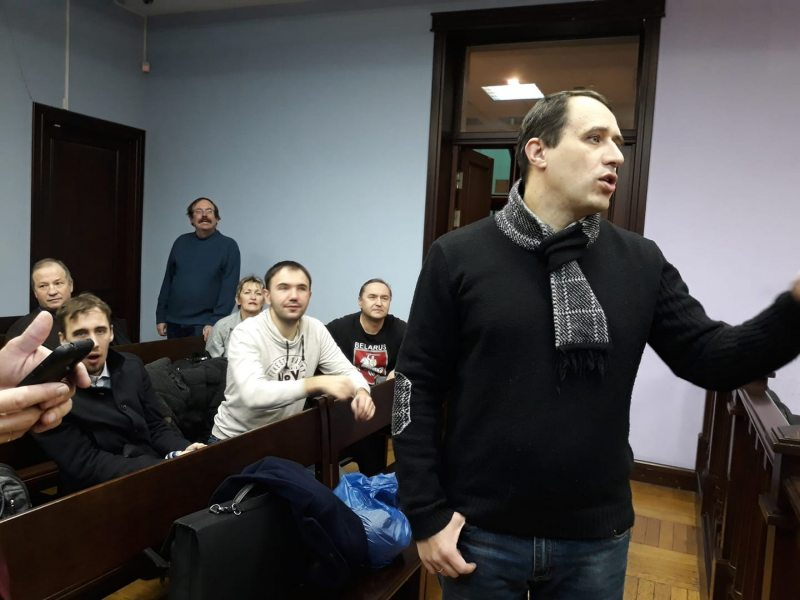 Opposition leader Pavel Seviarynets on trial in Minsk. December 5, 2019
