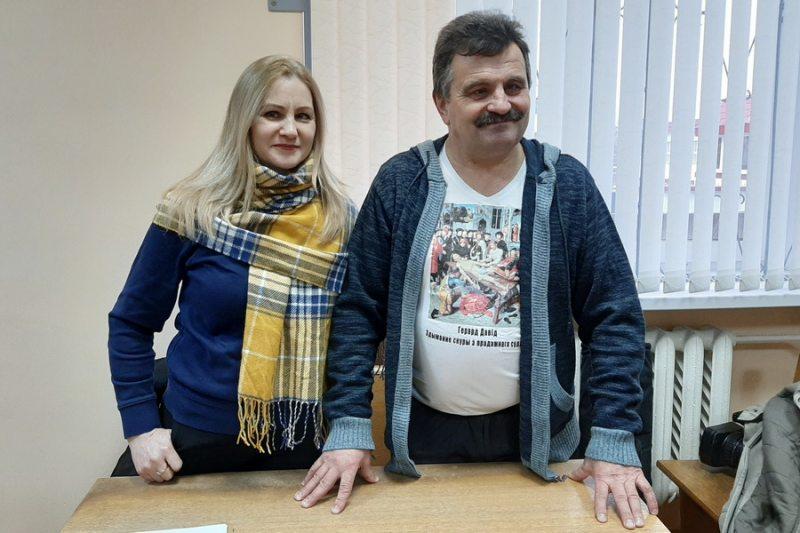 Алена Шабуня і Зміцер Лупач. Фота: baj.by