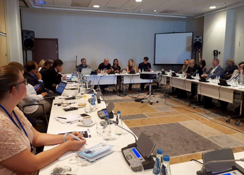 Side event on the current situation of civil and political rights in Belarus. September 9, 2018. Photo: Olga Salomatova