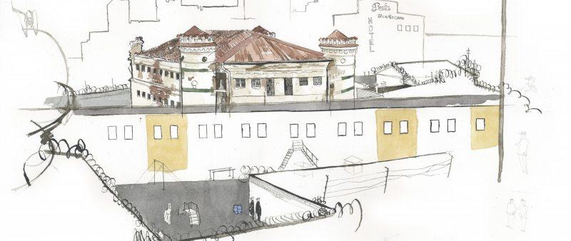 Следственный изолятор №1 по г. Минску, рисунок Джорджа Батлера