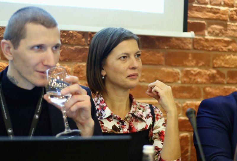 Сяргей Усцінаў і Вольга Смалянка