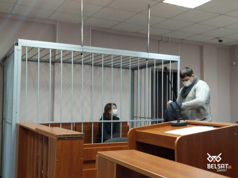 Renata Smirnova in court. Photo: belsat.eu