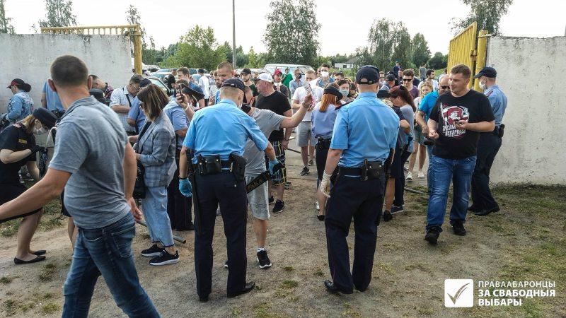 Митинг в Солигорске, 30 июля. Фото: Леонида Мархотко