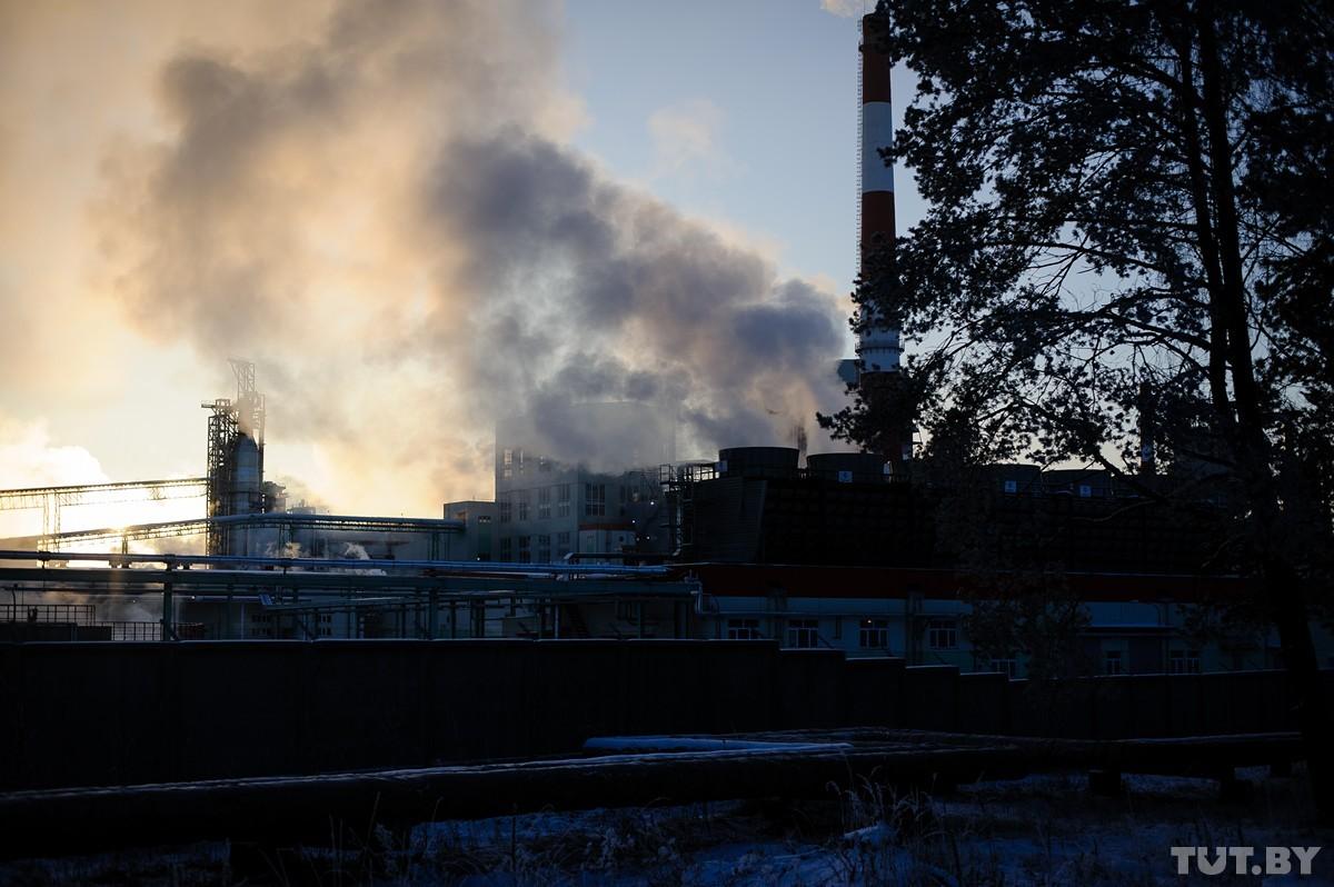 Светлагорскі завод беленай цэлюлозы. Фота: TUT.BY