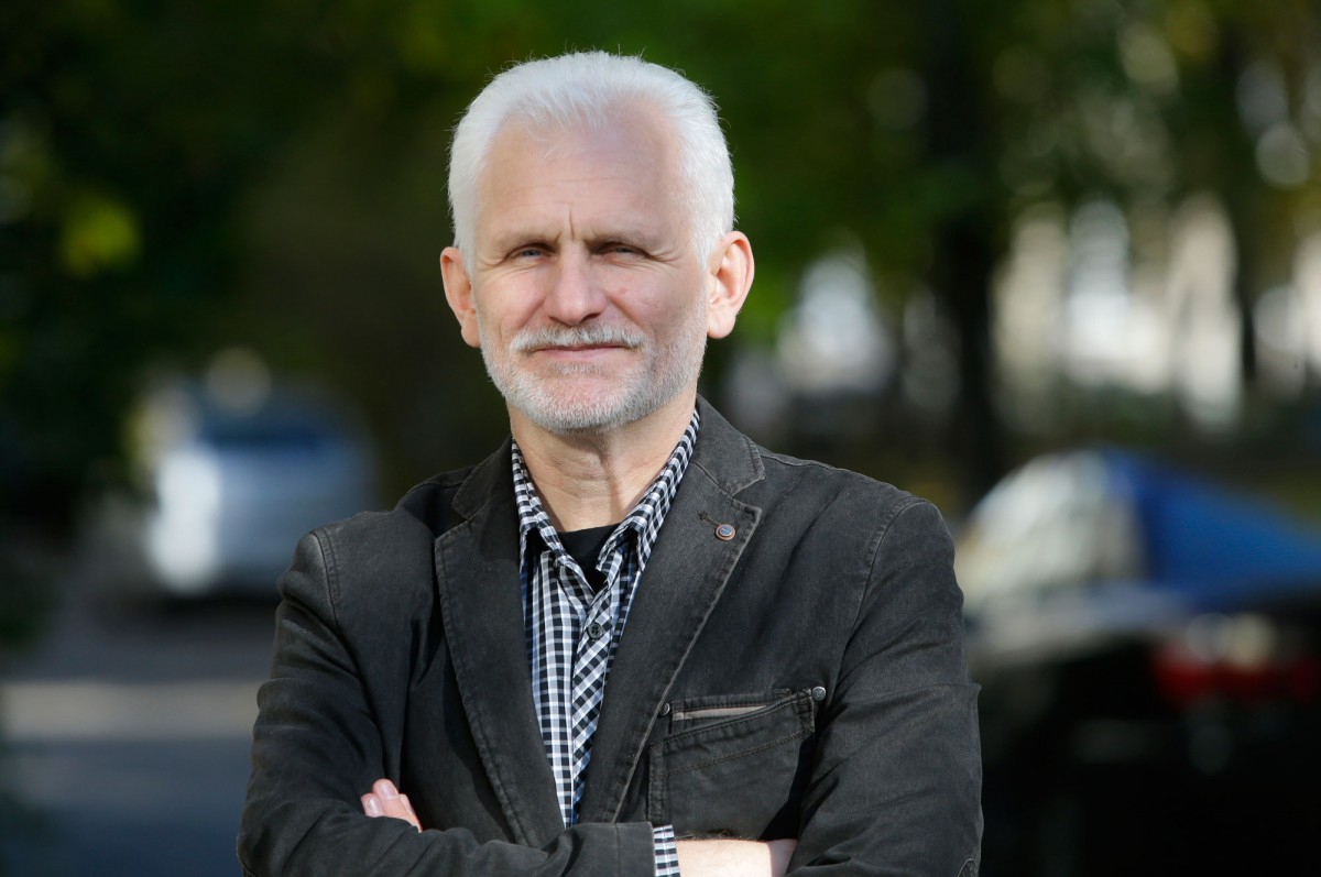 Human rights activist Ales Bialiatski. Photo by Siarhei Hryts