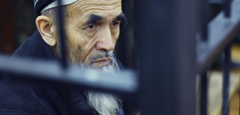 Азімжан Аскараў у судзе. Фото: ©Nezir Aliyev / Anadolu Agency