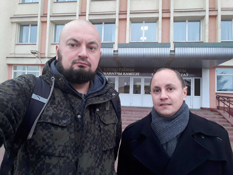 """Павел Батуеў і Віталь Амяльковіч. Фота з сайта Руху """"За Свабоду"""""""