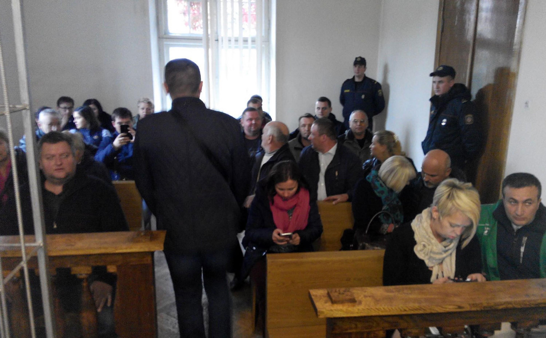 Суд над удзельнікамі акцыі пратэсту ў Берасці 8 кастрычніка 2018 года. Фота Уладзіміра Вялічкіна.