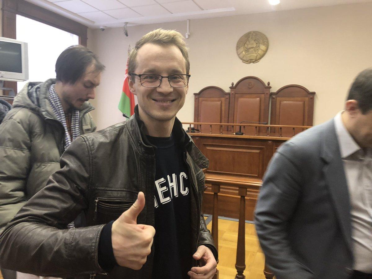 Зміцер Дашкевіч. Фота з твітэра Антона Матолька