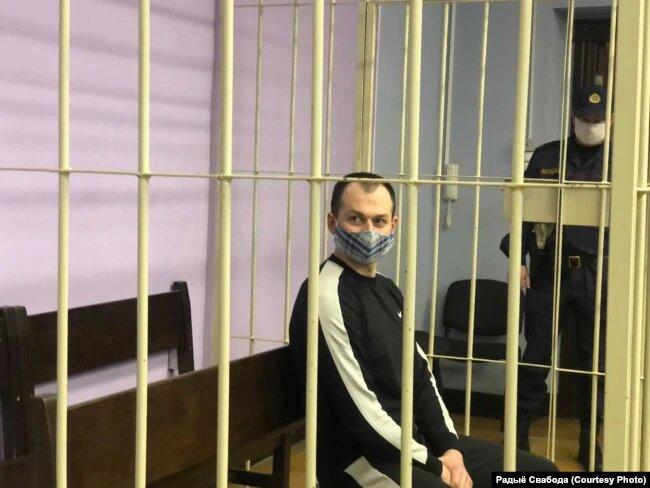 Яўген Дзмітрыеў у судзе. Фота Радыё Свабоды