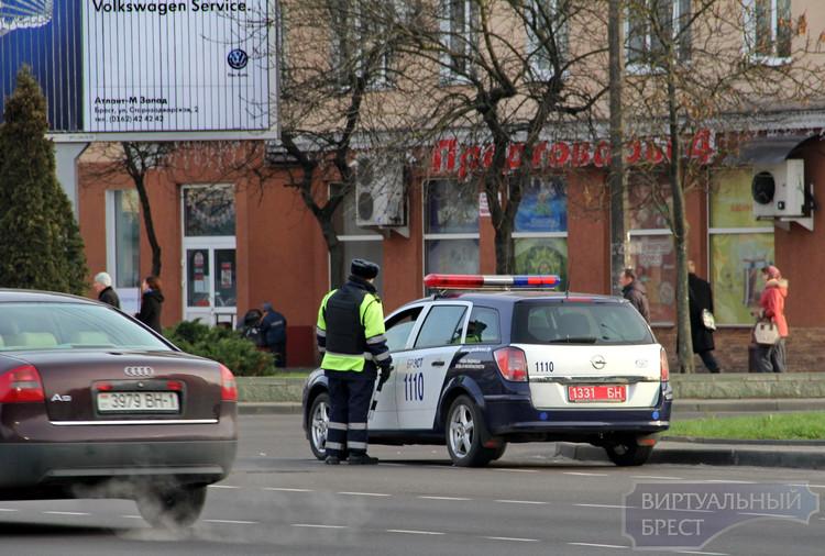 Супрацоўнік ДАІ на вуліцах Брэста. Фота: Віртуальны Брэст