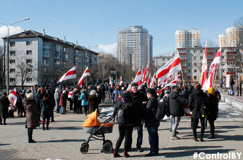Дзень Волі 2018 у Кіеўскім скверы.