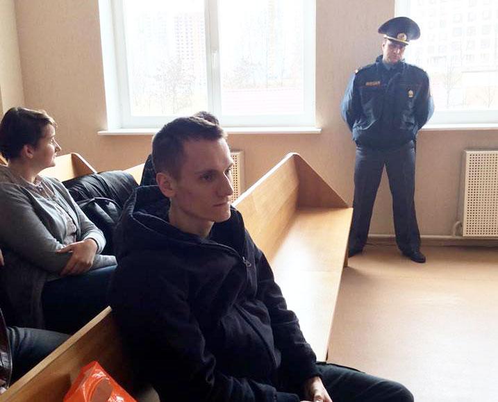 Мікалай Дзядок у судзе 29 сакавіка