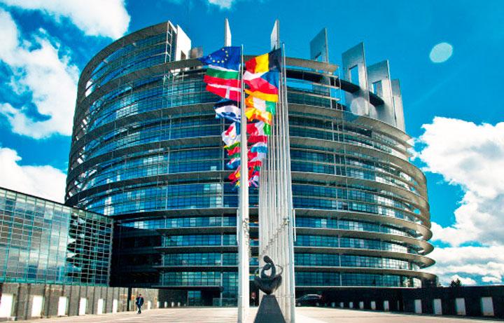 Будынак Еўрапарламента ў Страсбургу.