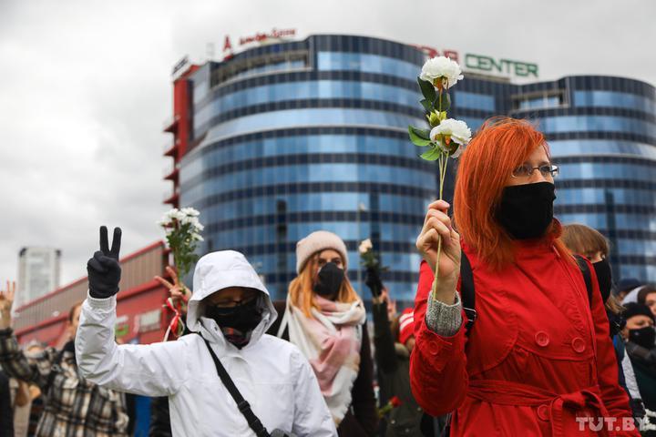 Жаночы марш у Мінску 17 кастрычніка. Фота: TUT.by