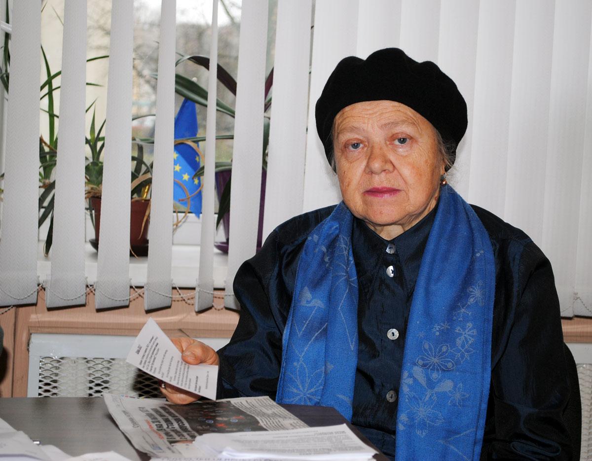 Актывістка КХП-БНФ Ала Гуцава.