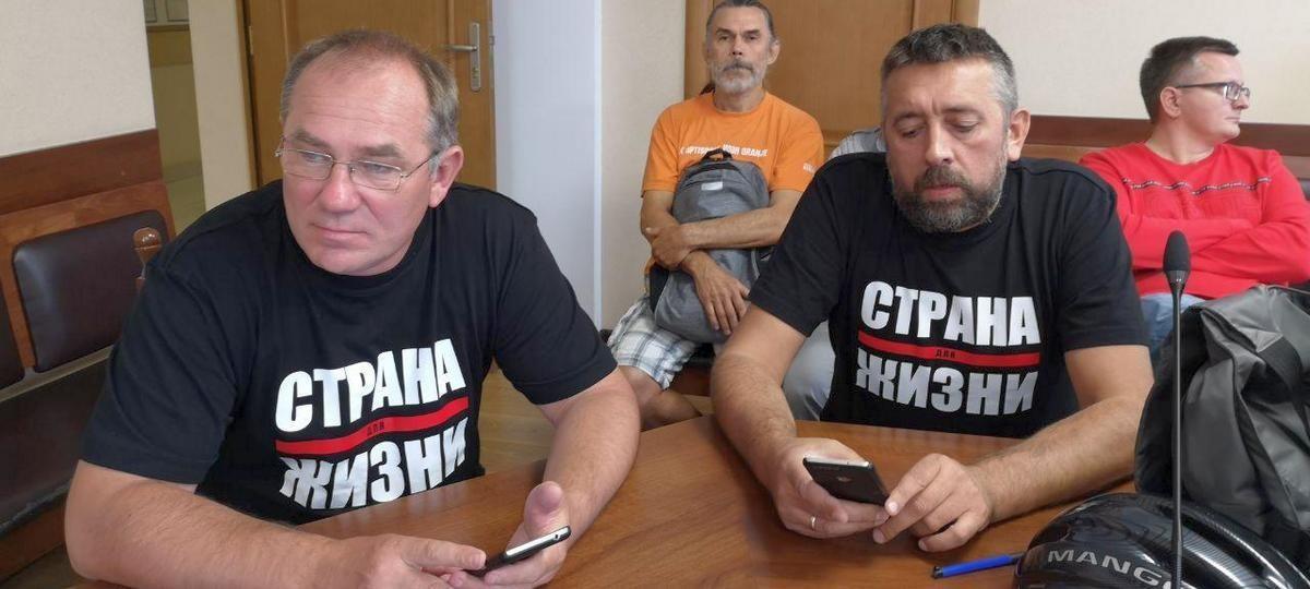 Аляксандр Кабанаў і Сяргей Пятрухін. Фота з сайта b-g.by