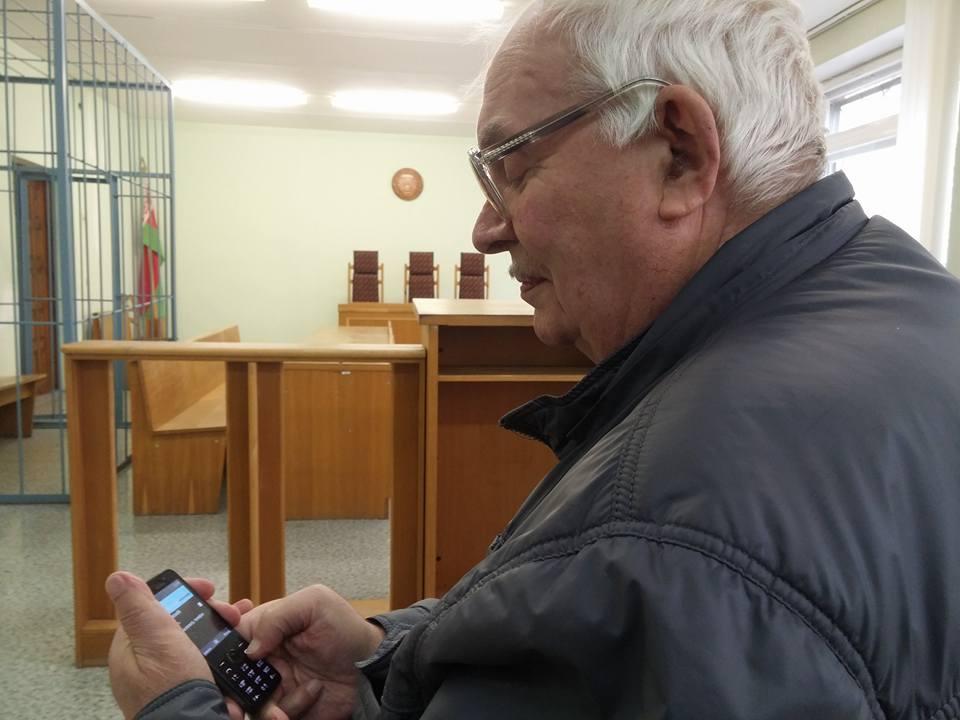 Рыгор Крывіцкі ў судзе.