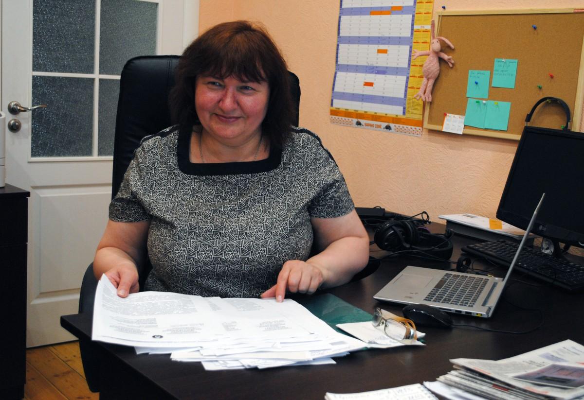 Людміла Кучура ў Праваабарончым цэнтры