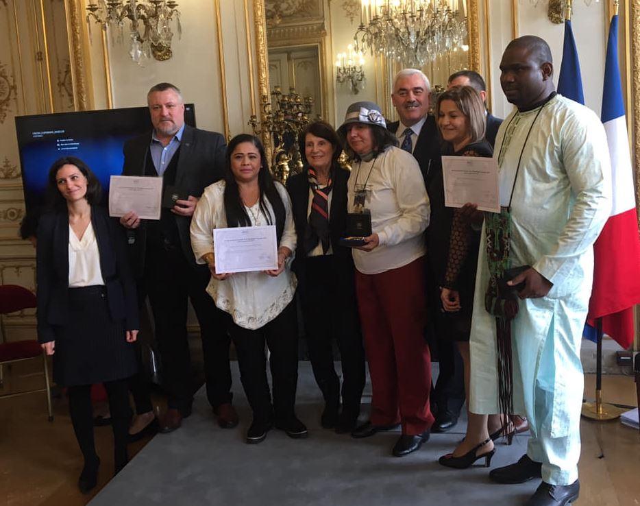 Леонид Судаленко на вручении премии «Свобода-Равенство-Братство»