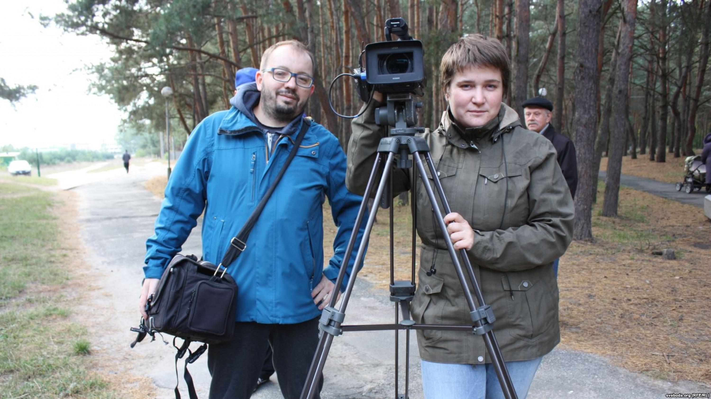 Алесь Ляўчук і Мілана Харытонава. Фота Радыё Свабода.