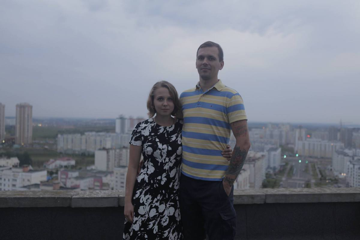 Марфа Рабкова з мужам. Фота: з асабістага архіва