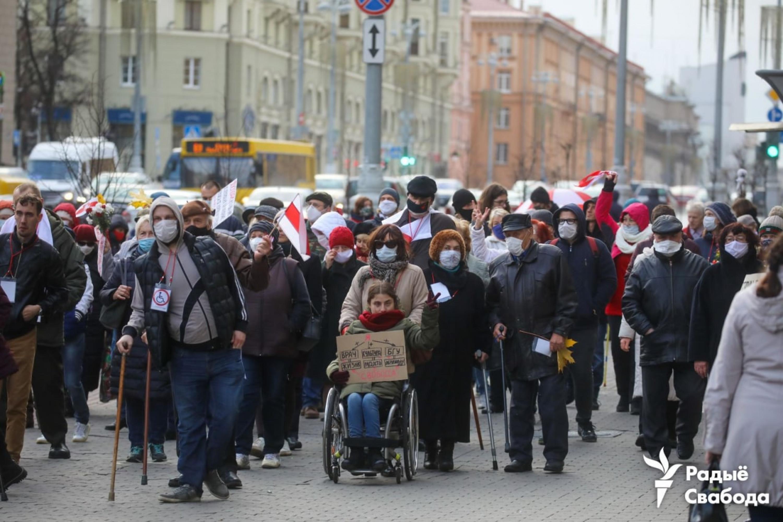 """Марш людзей з інваліднасцю. Фота: """"Радыё Свабода"""""""