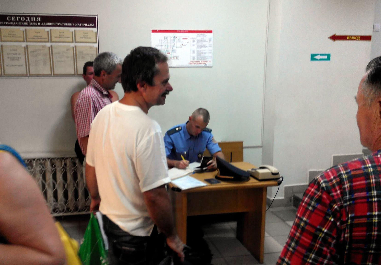 Аляксандр Мех у судзе 16 жніўня 2017 года.