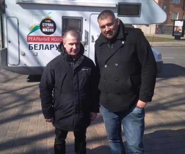 Леанід Насовіч разам з Сяргеем Ціханоўскім