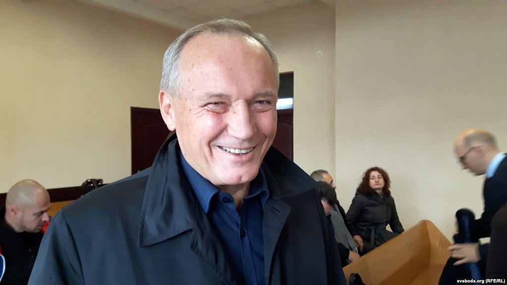 Уладзімір Някляеў у судзе 1 лістапада 2017. Фота: svaboda.org