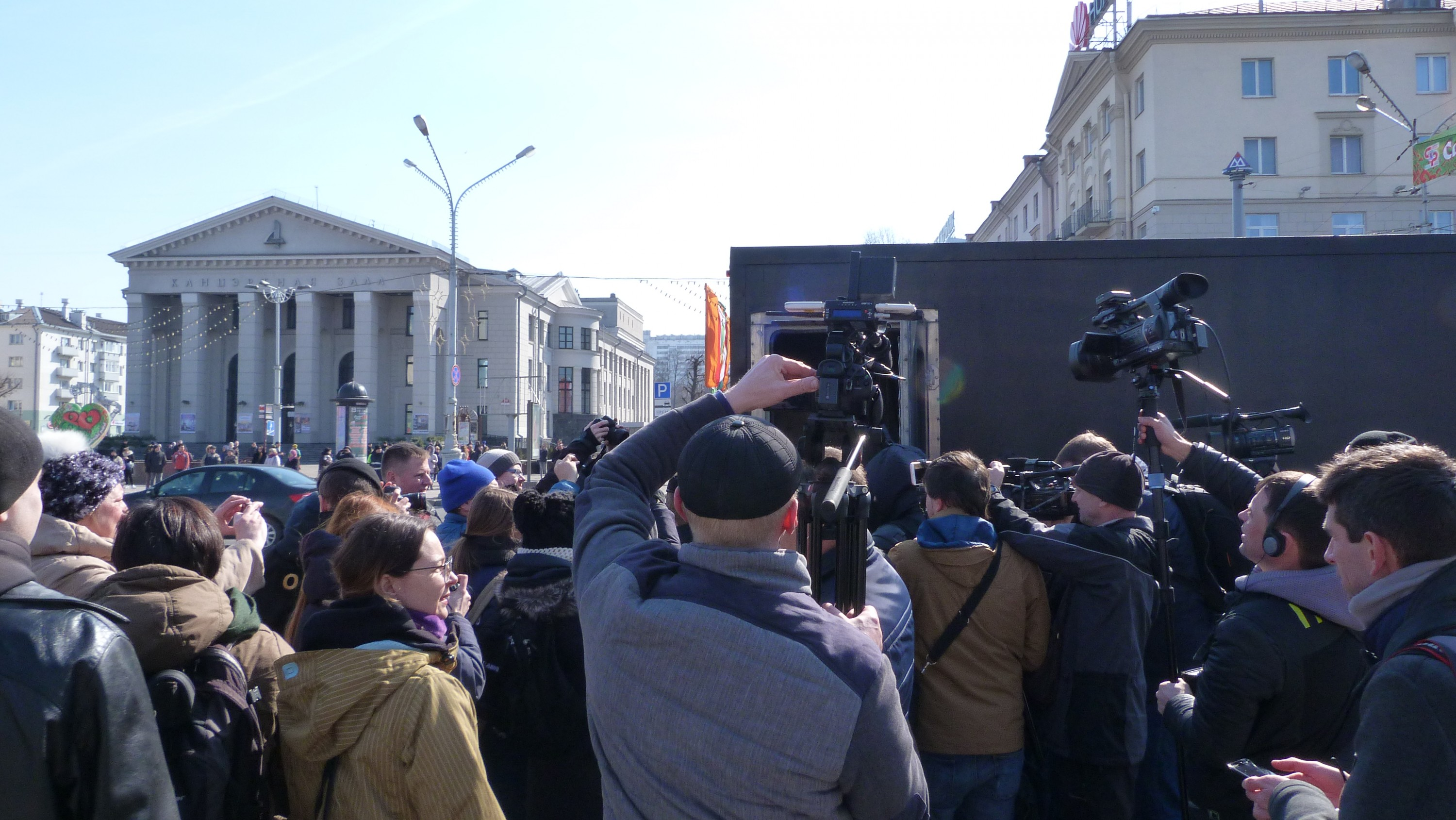 Peaceful assembly on March 25, 2018 in Minsk