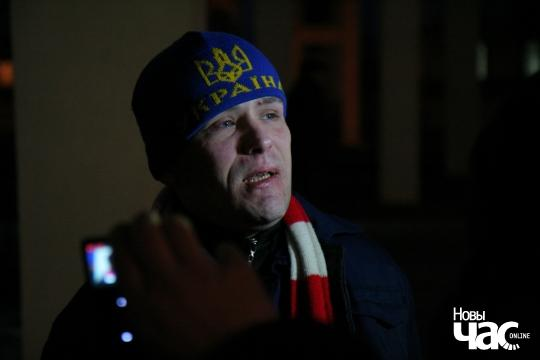 Vasil Parfiankou after his release from prison in Horki. Photo: Novy Chas.
