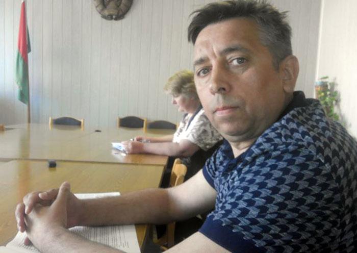 Сяргей Пятрухін у судзе. Фота: Уладзімір Вялічкін.