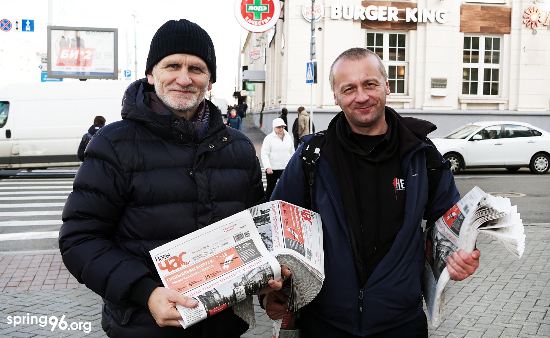 Праваабаронцы Алесь Бяляцкі і Аляксандр Вайцешык