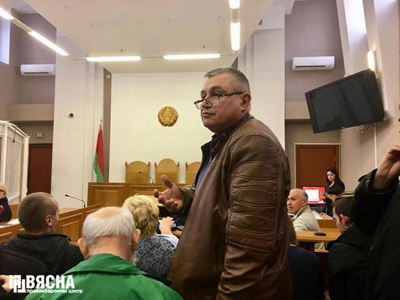 Павел Левінаў у Мінскім гарадскім судзе.