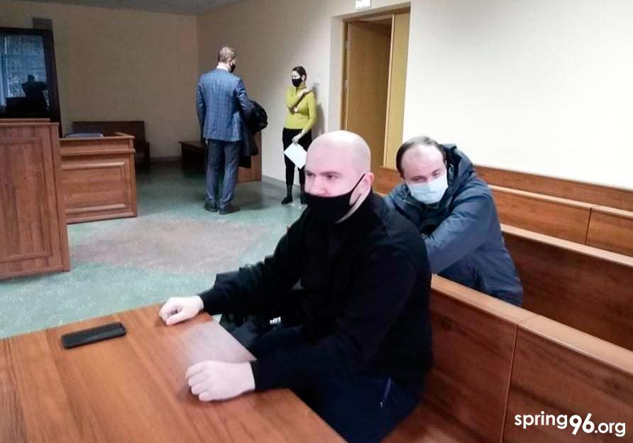 Сяргей Рымша ў судзе