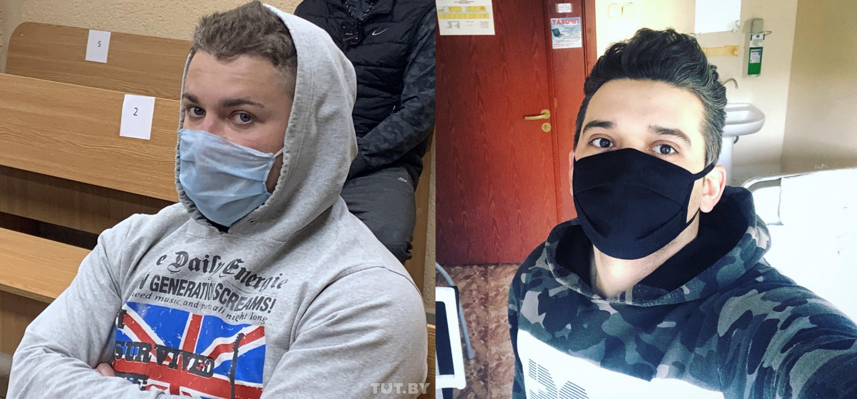 Арцем Сакаў (фота TUT.BY) і Канстанцін Сярогін